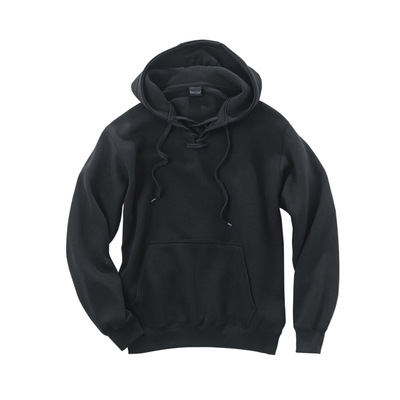 River's End Cotton/Poly Lace-Up Pullover Hoodie Sweatshirt