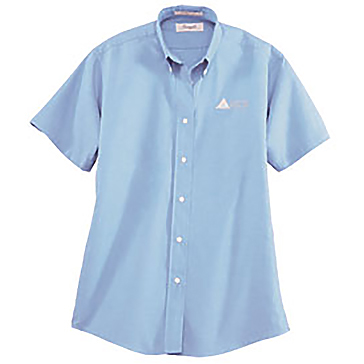 Forsyth Ladies' Classic Oxford Wrinkle Resistant Short Sleeve Shirt