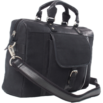Burk's Bay Canvas and Leather Elite Briefcase