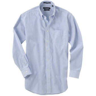 "Forsyth Men's Button-Down Collar Freedom Long Sleeve Shirt (35"" Sleeve)"