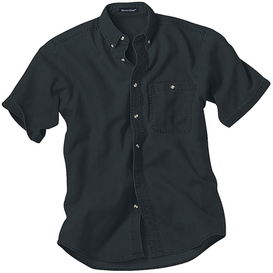River's End Men's Denim & Twill Short Sleeve Shirt