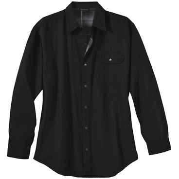 River's End Men's Canvas with Flannel Lining Long Sleeve Shirt Jacket