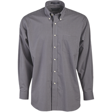 "Forsyth Men's Box Check Button-Down Collar Long Sleeve Shirt (37"" Sleeve)"