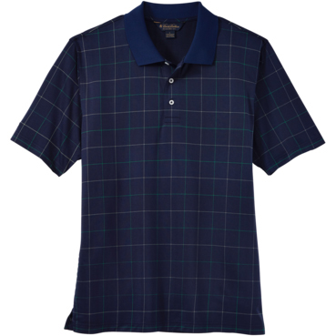 Brooks Brothers Men's Window Pane Jersey Short Sleeve Polo