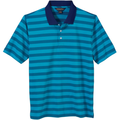 Brooks Brothers Men's Varigated Stripe Jersey Short Sleeve Polo