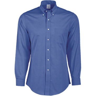 "Brooks Brothers Men's 346 Regular Fit Non-Iron Long Sleeve Shirt (36/37"" Sleeve)"