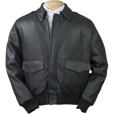 Burk's Bay A-1 Leather Bomber Full-Zip Jacket