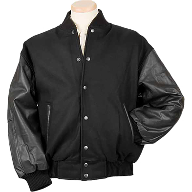Burk's Bay Men's Wool/Leather Varsity Jacket