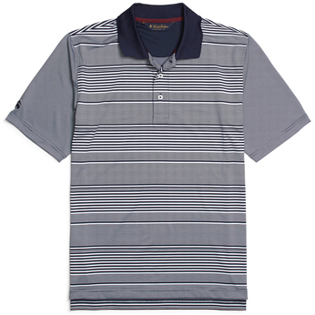Brooks Brothers Men's Multi Stripe Jersey Short Sleeve Polo