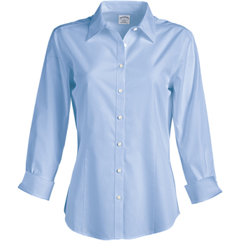 Brooks Brothers Ladies' 346 Non-Iron 3/4 Sleeve Fitted Dress Shirt