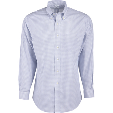 "Brooks Brothers Men's 346 Regular Fit Non-Iron Long Sleeve Shirt (32/33"" Sleeve)"