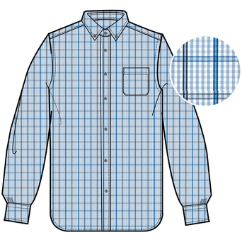 Brooks Brothers Men's Non-Iron Gingham Overcheck Long Sleeve Shirt