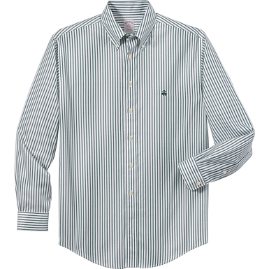 Brooks Brothers Men's Non-Iron Bengal Stripe Long Sleeve Shirt