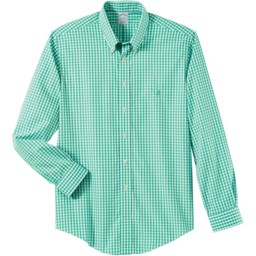 Brooks Brothers Men's Gingham Golden Fleece Long Sleeve Sport Shirt