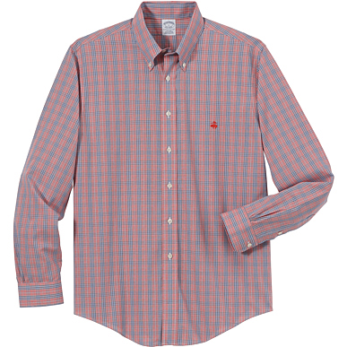 Brooks Brothers Men's Glenplaid Long Sleeve Sport Shirt