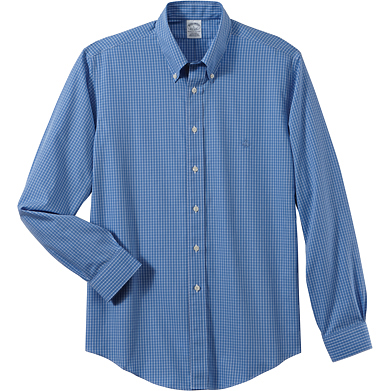 Brooks Brothers Men's Ground Check Long Sleeve Spot Shirt