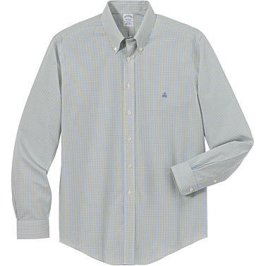 Brooks Brothers Men's Two Color Check Long Sleeve Sport Shirt