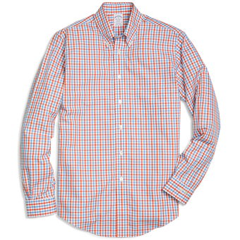 Brooks Brothers Men's Gingham Long Sleeve Sport Shirt