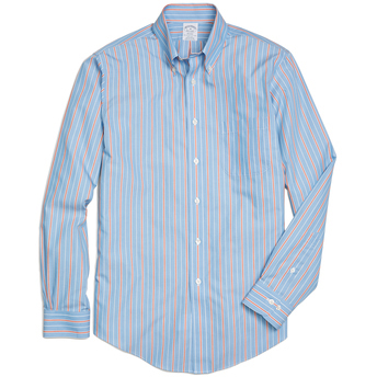Brooks Brothers Men's Alternate Stripe Long Sleeve Sport Shirt