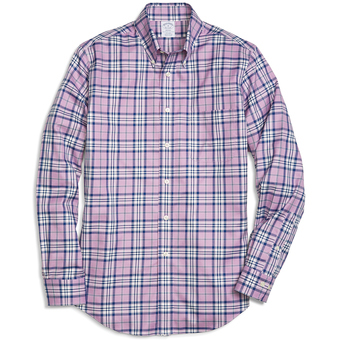 Brooks Brothers Men's Blanket Plaid Long Sleeve Sport Shirt