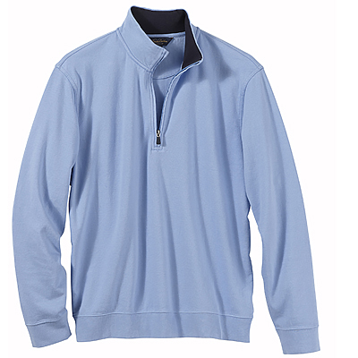 Brooks Brothers Men's Pique/Jersey Half-Zip Pullover Sweater