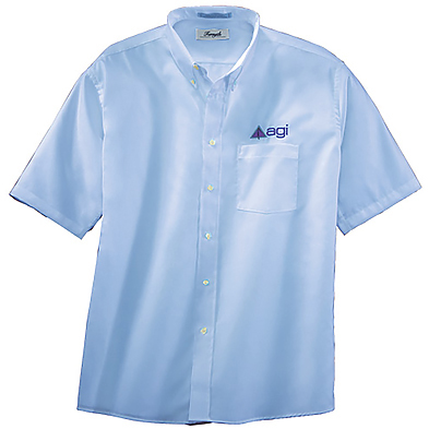 Forsyth Men's Oxford Wrinkle Resistant Short Sleeve Shirt