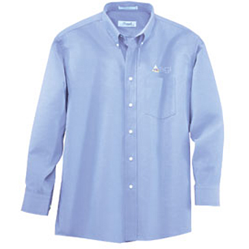 "Forsyth Men's Oxford Wrinkle Resistant Long Sleeve Shirt (33"" Sleeve)"