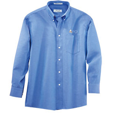 "Forsyth Men's Oxford Wrinkle Resistant Long Sleeve Shirt (35"" Sleeve)"