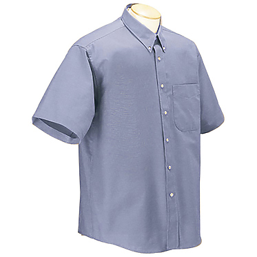 Forysth Men's Houndstooth Oxford Wrinkle Resistant Short Sleeve Shirt