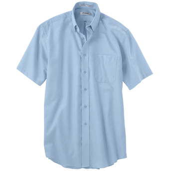 Forsyth Men's Oxford Wrinkle Resistant Short Sleeve Sport Shirt