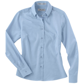 Forsyth Ladies' Oxford Wrinkle Resistant Long Sleeve Sport Shirt