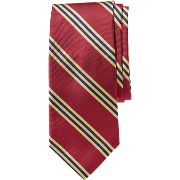 Brooks Brothers Men's Basic Stripe Silk Tie