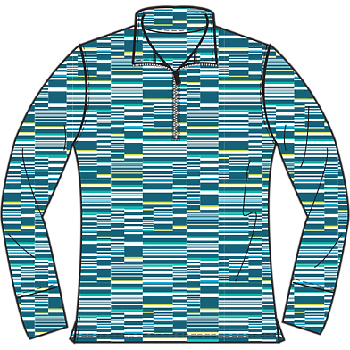 Page & Tuttle Ladies' Offset Block Print Mock Pullover