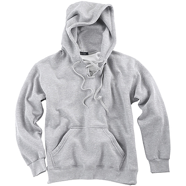 Page & Tuttle Men's Cotton/Poly Lace-Up Pullover Hoodie Sweatshirt