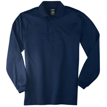 Page & Tuttle Men's Cool Swing Textured Ottoman Long Sleeve Polo