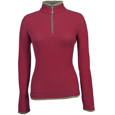 Storm Creek Ladies' 'Janica' Waffle Knit 1/4-Zip Pullover