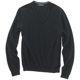 Brooks Brothers Men's Merino Wool V-Neck Long Sleeve Sweater