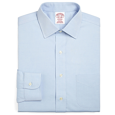 "Brooks Brothers Men's Non-Iron Ainsley Long Sleeve Shirt (34/35"" Sleeve)"
